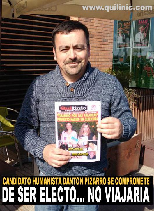 Candidato Danton Pizarro «De ser electo, no viajaría»