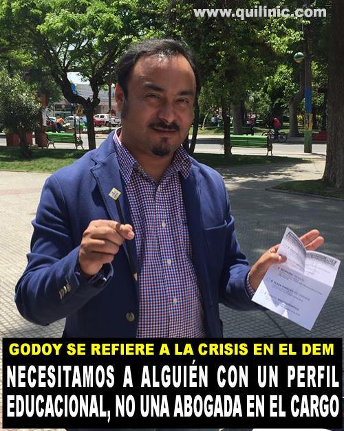 Godoy se refiere a la crisis en el Departamento de Educacion Municipal