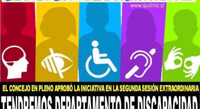 Tendremos Departamento de Discapacidad e Inclusión Social